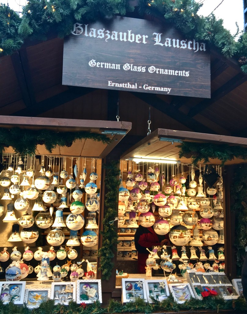 Christmas markets offer beautiful hand-painted ornaments. Start a new collection!