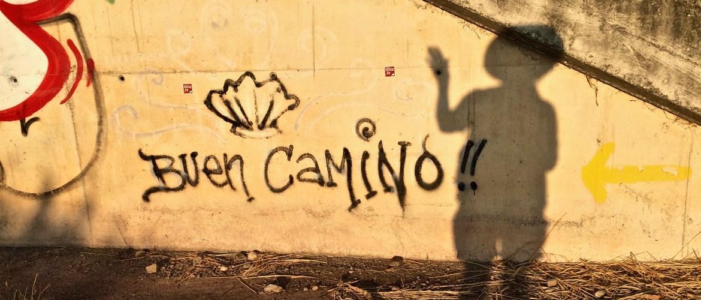 Reasons to walk the Camino de Santiago: Morning shadow selfies!