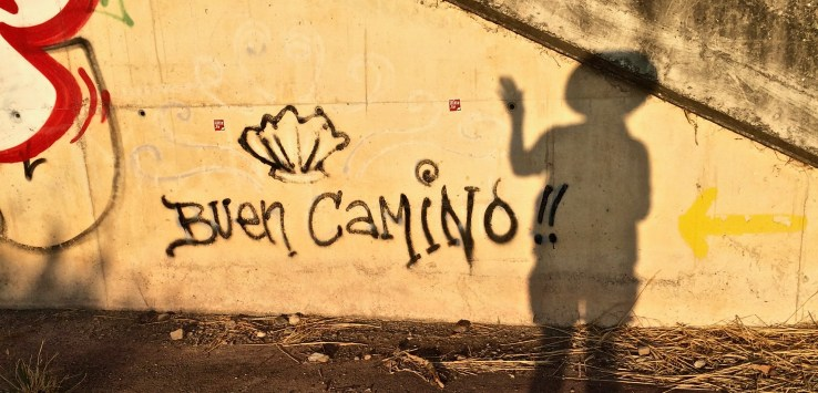 Reasons to walk the Camino de Santiago: Morning shadow selfies!