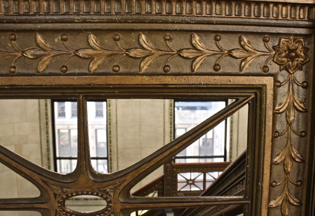 Intricate details are everywhere in the Chicago Cultural Center...even the stairways have carvings