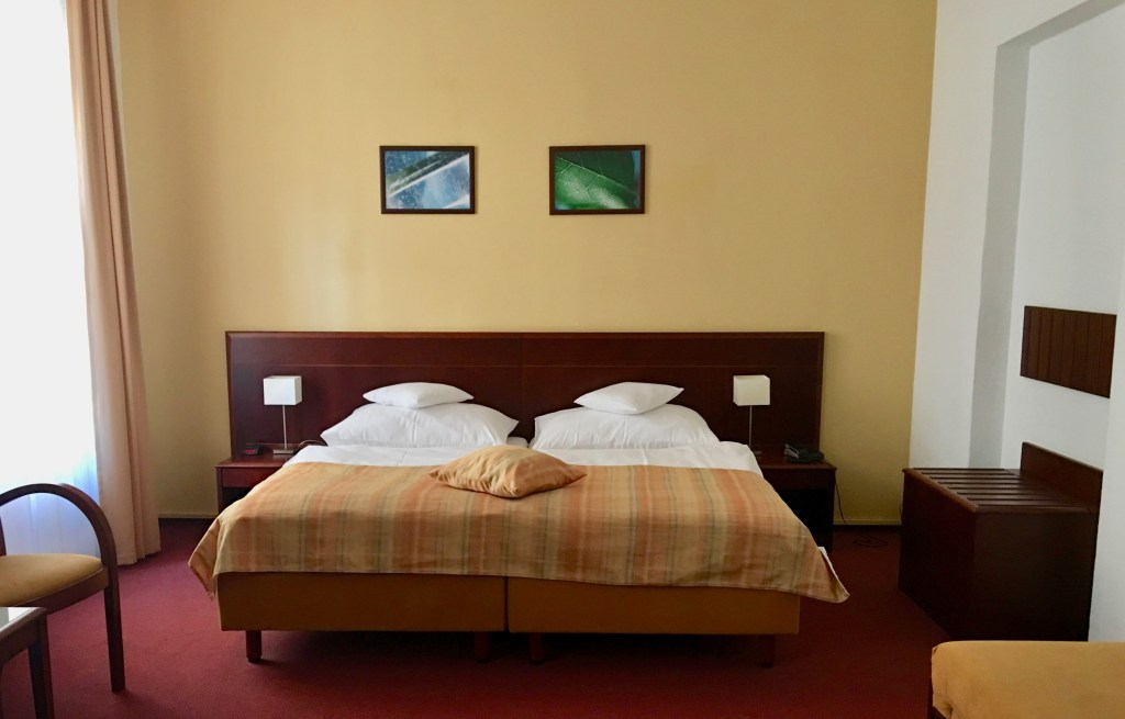 How to sleep well when you travel: Take photos of all your beds! It's fun to see how different they are in other countries. (Prague. Photo by Suzanne Ball)