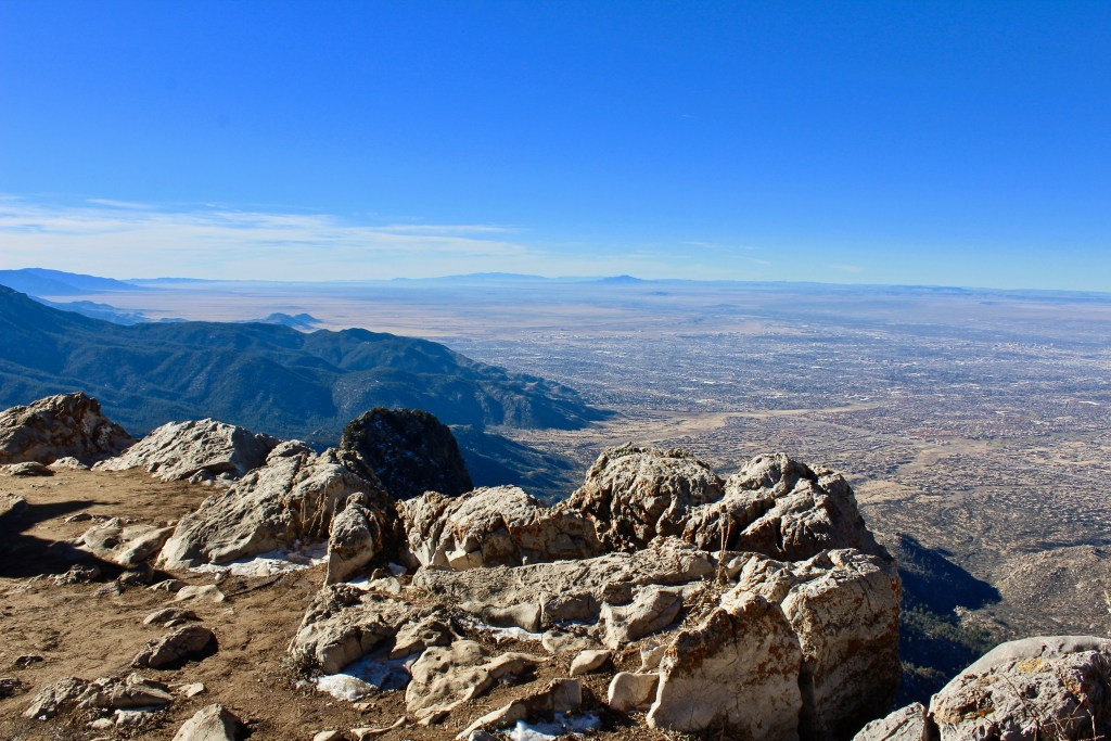 The views from Sandia Peak are never-ending...