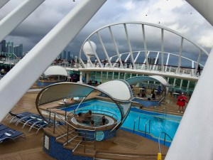 You know your cruise isn't going well when the pool deck is closed...