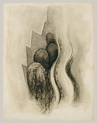 Georgia O'Keefe Museum features early abstract charcoal drawings that would be shown to Alfred Stieglitz...and change O'Keefe's life.