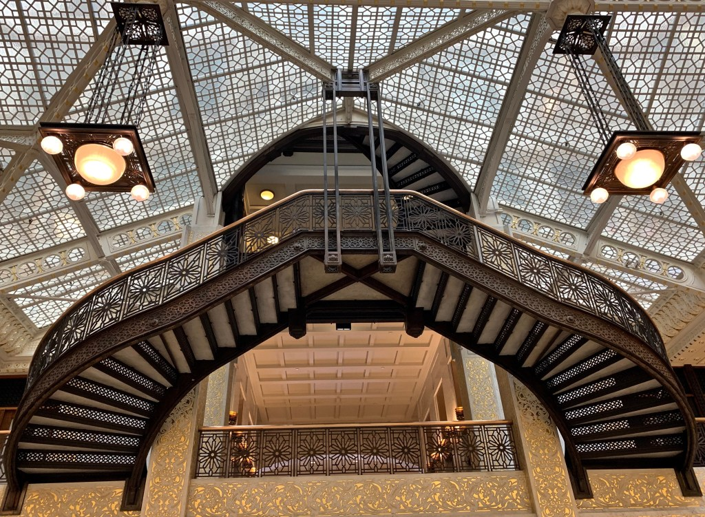 5 Chicago Buildings You Should Know: The Rookery is the only remaining building with Frank Lloyd Wright's work.