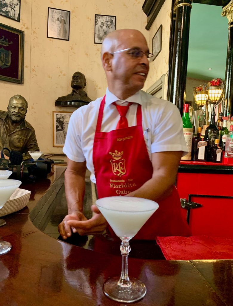 "La Floridita is where Ernest Hemingway hung out...we had to sample the ""Papa"" that was c"