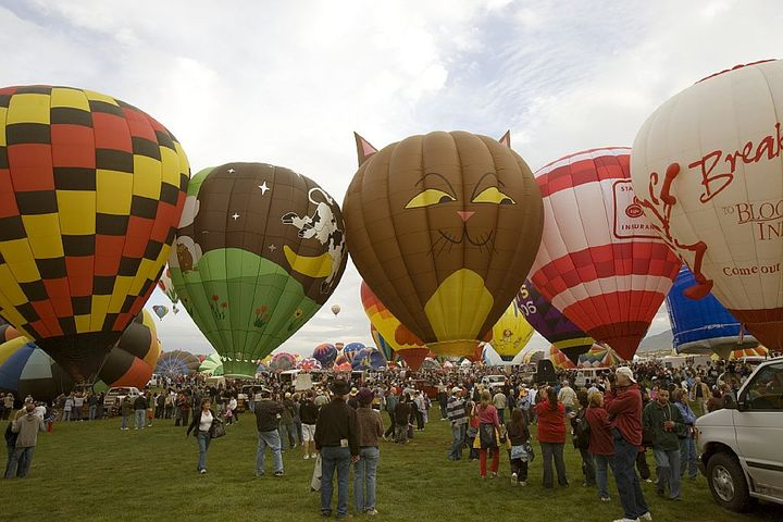 About 750,000 people come to the annual Balloon Festival in Albuquerque.
