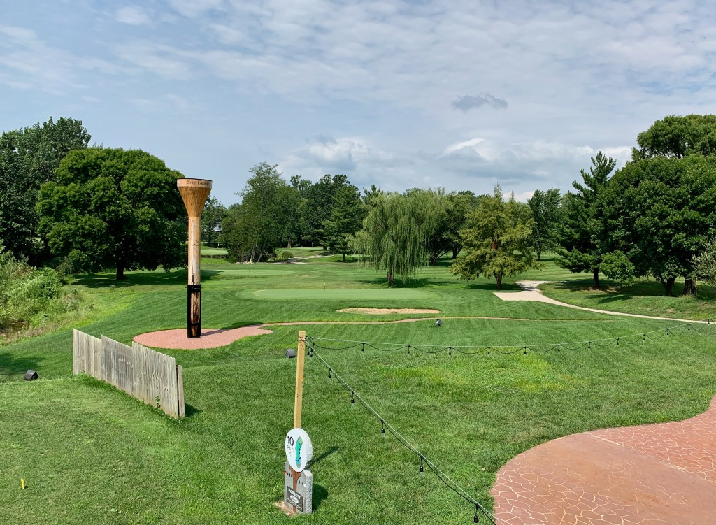 Casey, Illinois has the World's Largest Golf Tee! Drive to the country club, walk through the Pro Shop and there it is, right next to the fairway