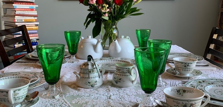 Table set for English Afternoon Tea