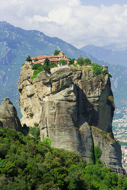 Meteora, Greece--Monastery on stone pillars