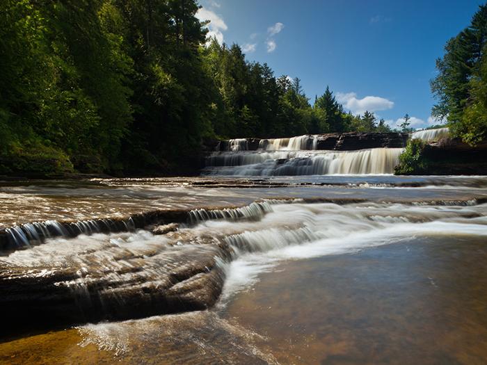 Tahquameon State Park, Paradise, Michigan: Lower Falls