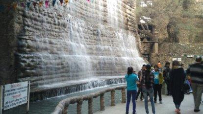 File:A waterfall in rock garden.jpg