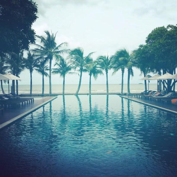 The beautiful main pool