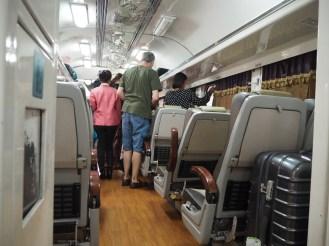 Inside the 2nd class train