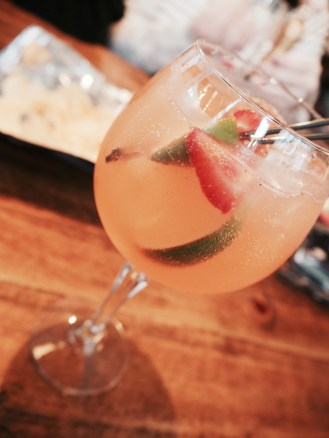 A strawberry gin cup.