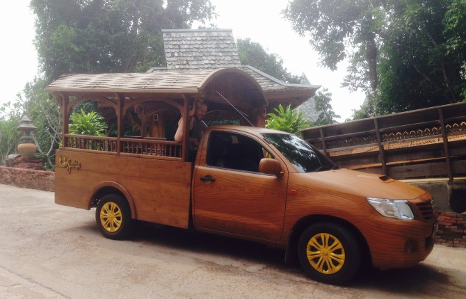 We never had to wait on for a wooden van to transport us around the resort.