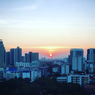 Beautiful Bangkok sunset