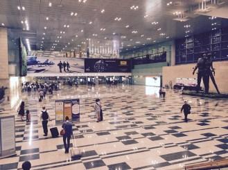 Shiny Singapore immigration.
