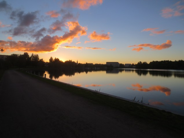 View of Kajaani at 8:08pm