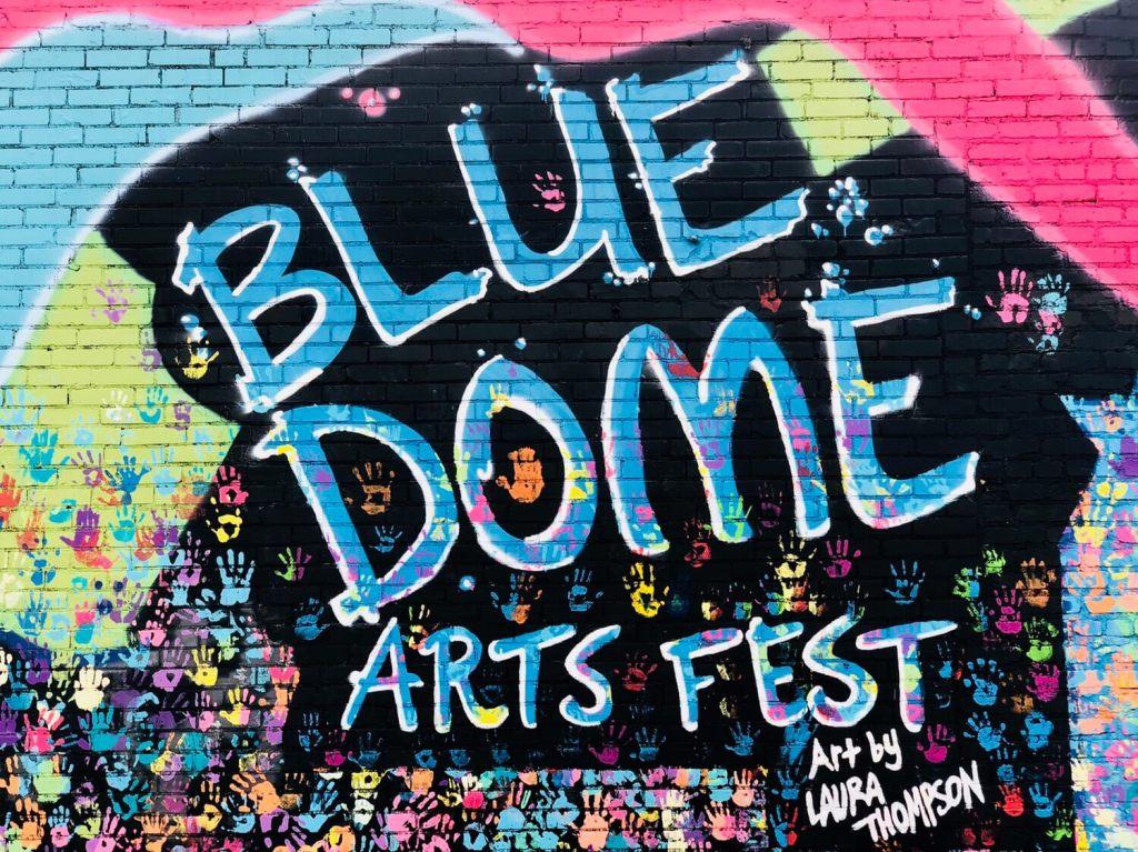 Tulsa Mural in Blue Dome District