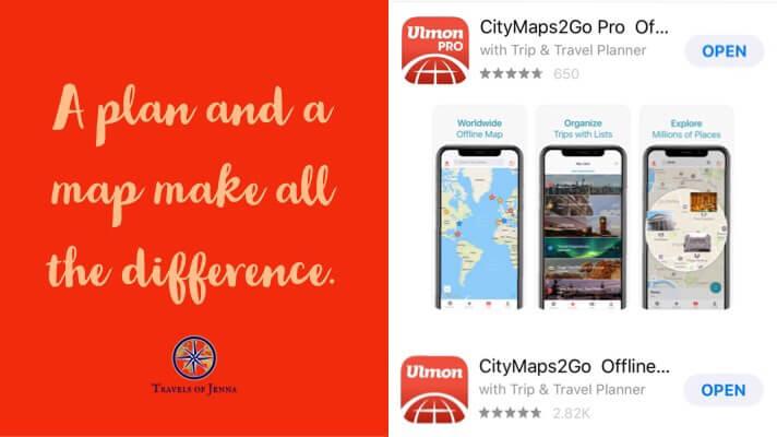 Ulmon CityMaps2Go Travel App