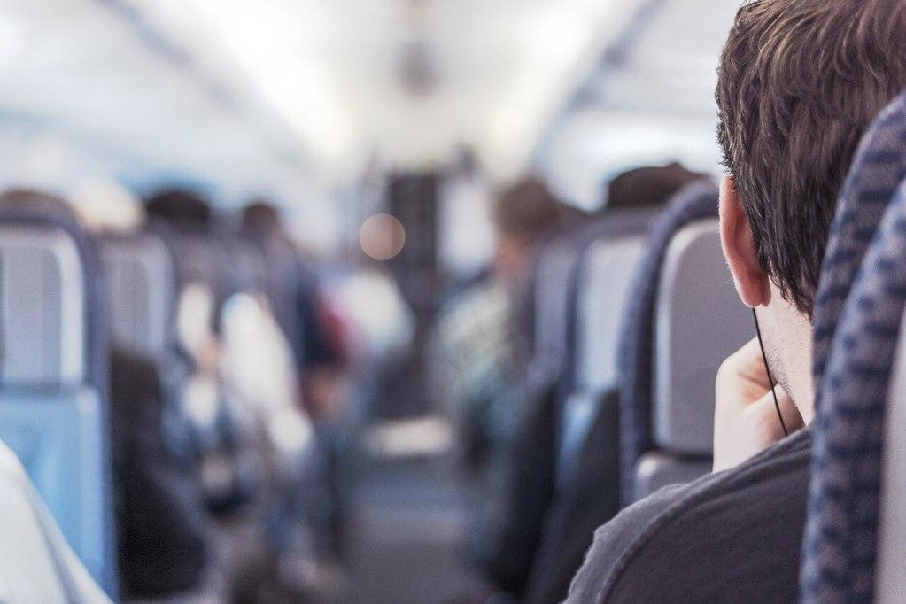 Passenger on a plane.