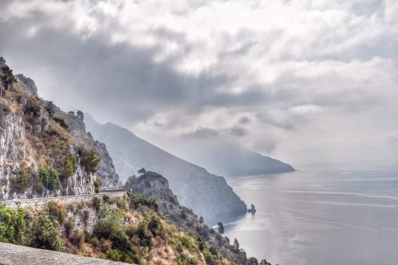 Amalfi Coast with fog