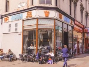 Nardini Icecream shop on a corner