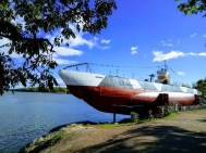 Submarine used in the Second World War resting in Suomenlinna
