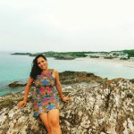 Sarah on beach in the Ring of Kerry