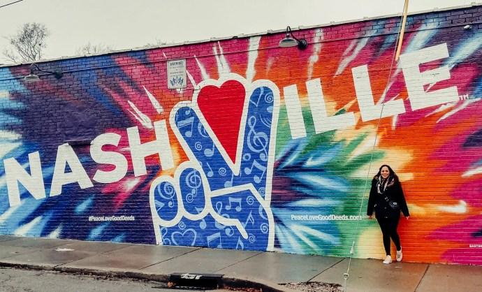 Giant Nashville Peace Mural
