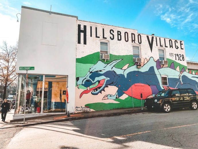 Hillsboro Village Mural and Boutique one of many in the neighborhood.