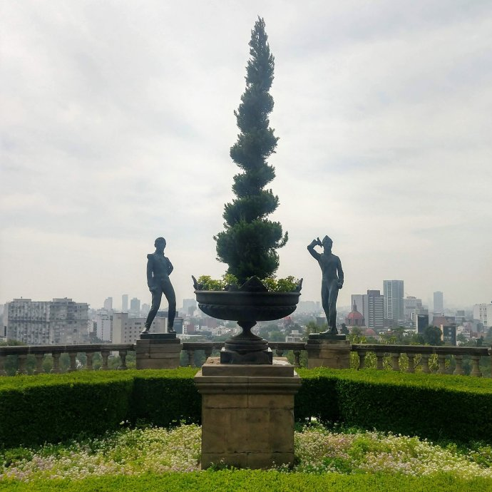 Castle Gardens in Chapultapec in Mexico City