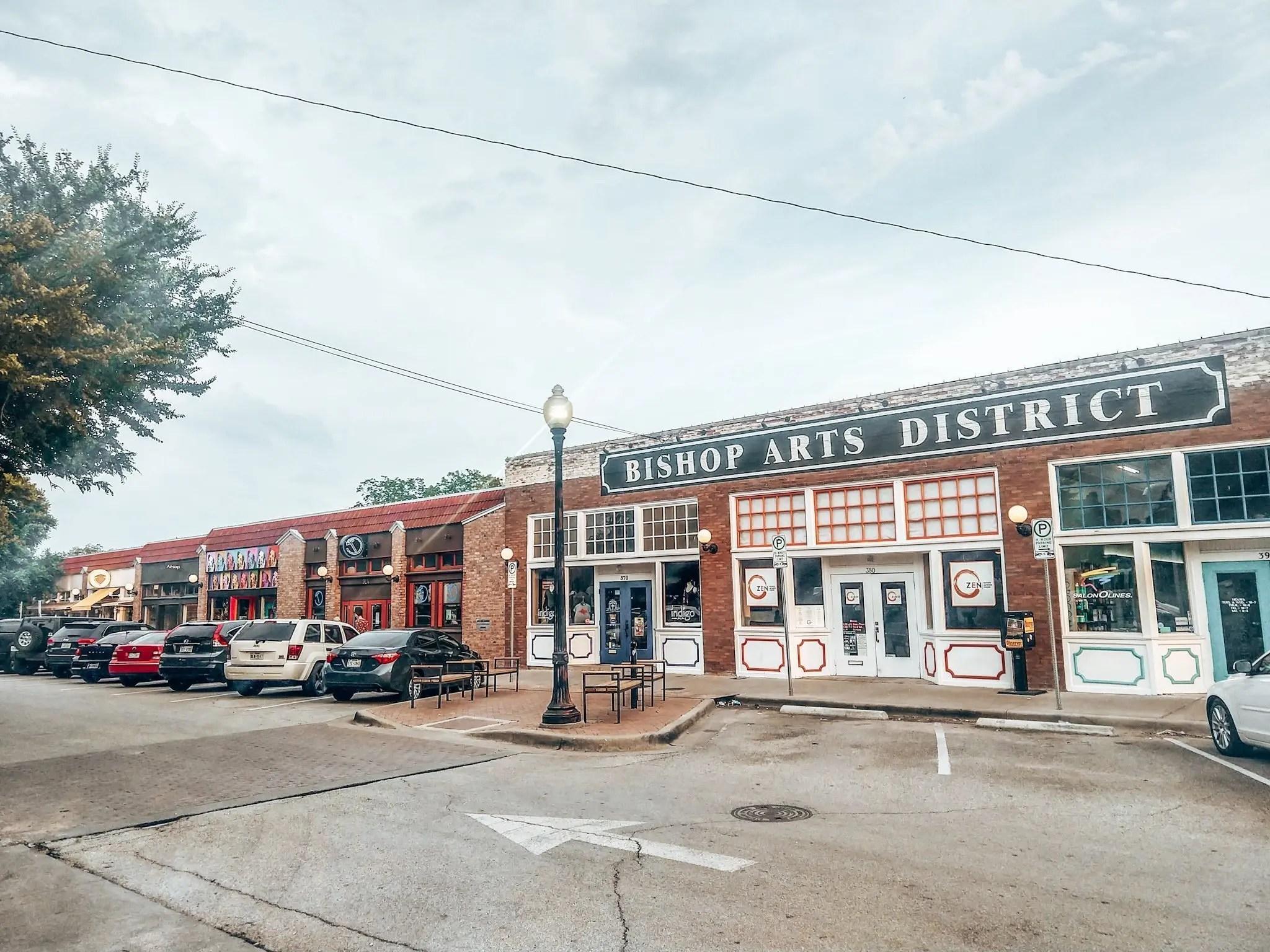 Bishop Arts district shops in Dallas Texas