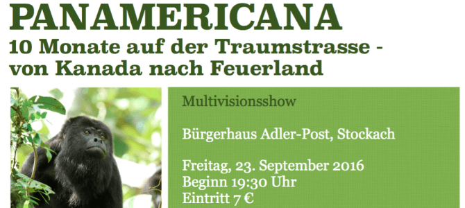 Multivisionsshow am Freitag, 23.09.2016 in Stockach