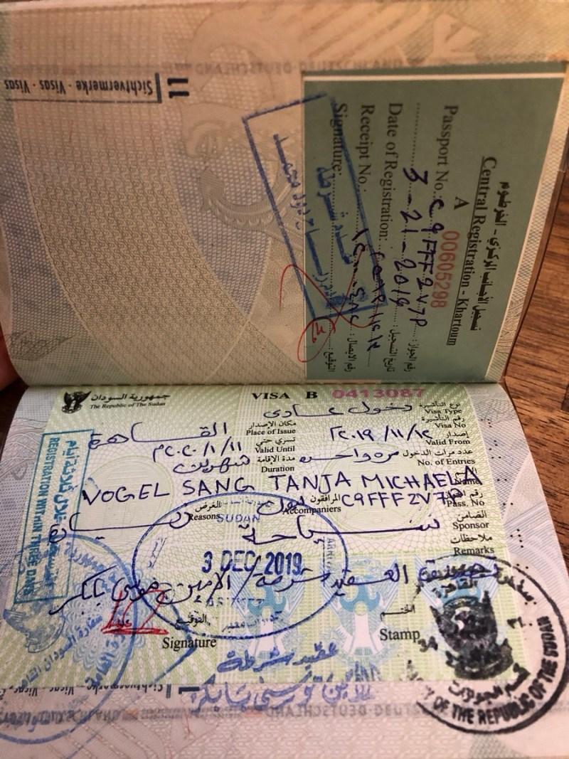 Sudan Visum Alien Registration