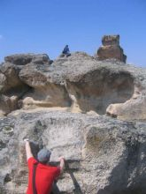 Reaching the top, Cappadocia