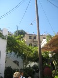 Walking into the village in the Naxos highlands
