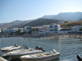 Apollonas fishing village