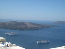 166. Santorini harbour, formerlly a volcano!