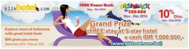 Promo Hotel Kartu Kredit BNI Klikhotel