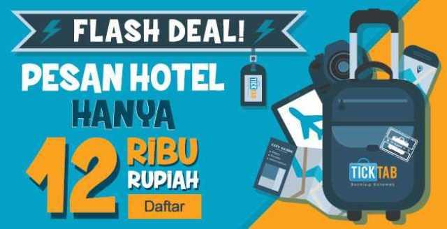 Hotel Murah hanya Rp 12.000 di ticktab.com