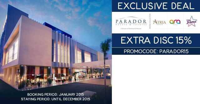 Promo Code Exclusive Deal Diskon Hotel 15% di Parador Group Ticktab