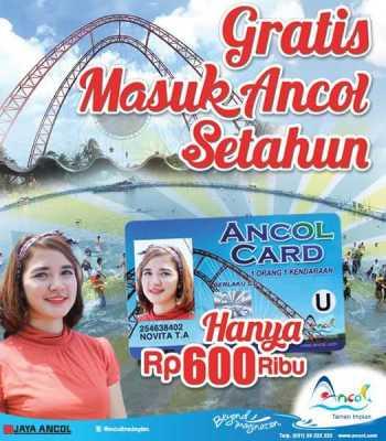 Ancol Member Card gratis masuk setahun dan banyak diskonnya