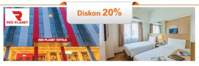 Promo Kartu Kredit BNI RED Planet Hotel dapatkan diskon hingga 20%
