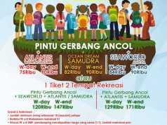 Promo Tiket Masuk Rombongan Pelajar Ancol khusus paket 2 tempat rekreasi.