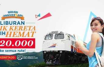 Promo tiket.com diskon tiket kereta api Rp 20.000