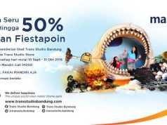 Promo Mandiri Fiesta Poin Trans Studio Bandung diskon tiket masuk hingga 50% periode hingga 31 Oktober 2016.