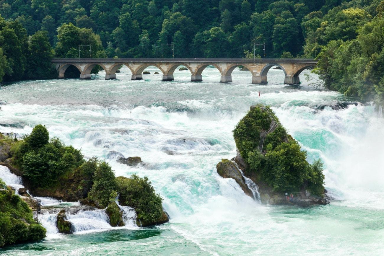 Europe's Largest Waterfall, Neuhausen, Switzerland
