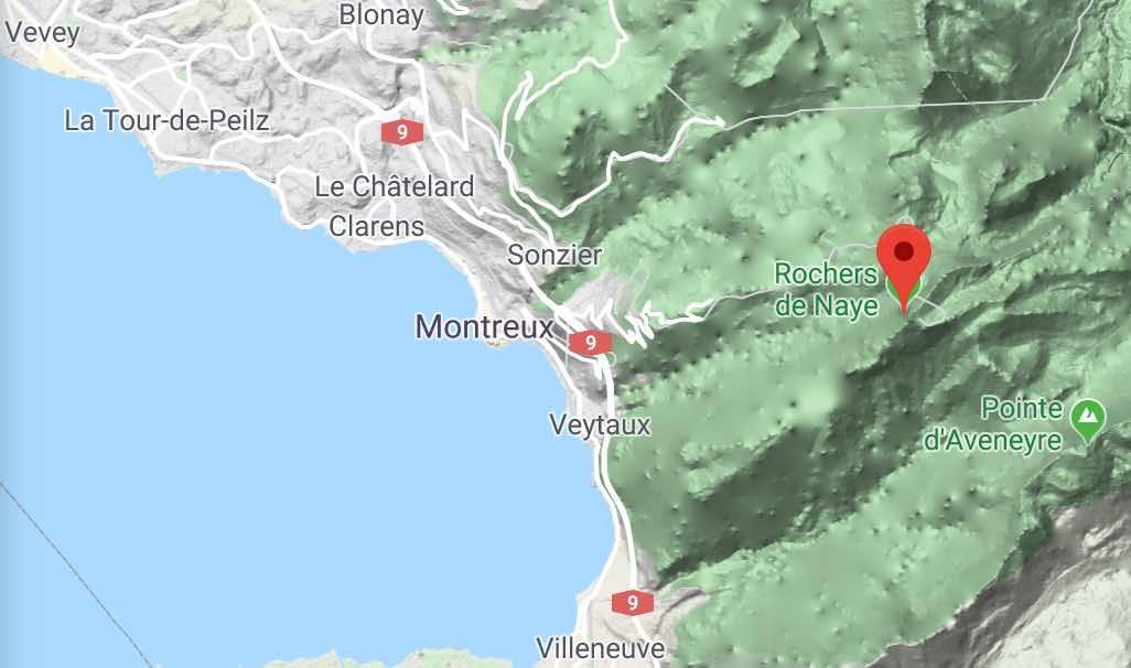 Rochers de Naye on Google Maps